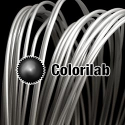 PLA 3D printer filament 3.00 mm translucent silver 9C