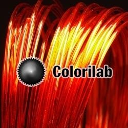 PLA 3D printer filament 3.00 mm translucent red 2028C