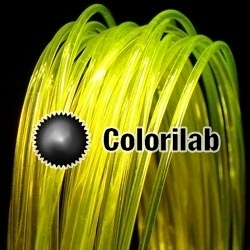PLA 3D printer filament 1.75 mm translucent yellow 394C