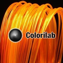 PLA 3D printer filament 3.00 mm translucent orange 2018C