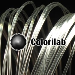 PLA 3D printer filament 3.00 mm crystal clear glass transparent