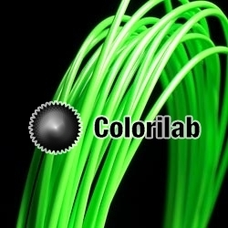 ABS 3D printer filament 1.75 mm close to fluo green 802 C