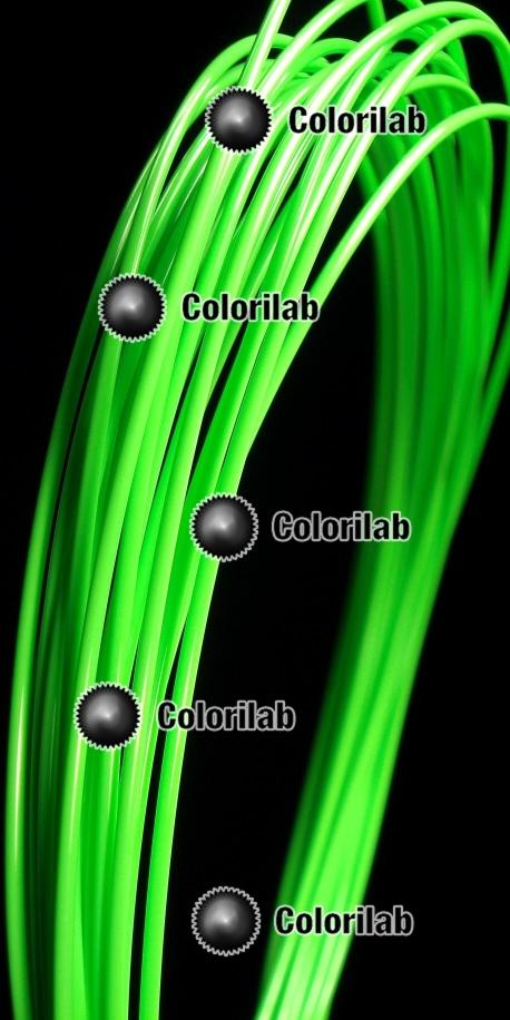 Filament d'imprimante 3D 3.00 mm PLA vert fluo 802C