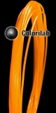 Filament d'imprimante 3D 1.75 mm ABS orange translucide Bright Orange C
