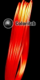 Filament d'imprimante 3D 1.75 mm PLA rouge translucide 186C
