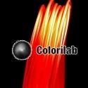 Filament d'imprimante 3D 3.00 mm PLA rouge translucide 186C