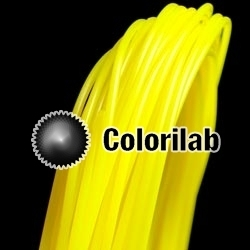Filament d'imprimante 3D 1.75 mm PLA jaune translucide 395C