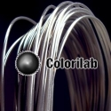 PLA 3D printer filament 3.00 mm translucent black Black 2C