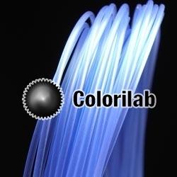 PLA 3D printer filament 1.75 mm close to translucent blue 7455 C
