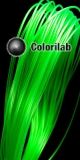 Filament d'imprimante 3D 1.75 mm ABS vert translucide 7481C