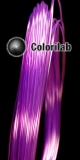 ABS 3D printer filament 1.75 mm close to translucent violet 2603 C