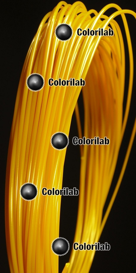 Filament d'imprimante 3D 1.75 mm PLA doré or 117C