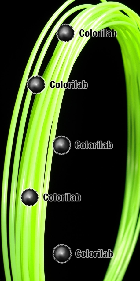 PLA 3D printer filament 3.00mm close to fluo green 7487 C