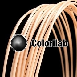 ABS 3D printer filament 3.00mm close to leather skin 473 C