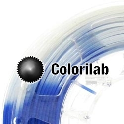 Filament d'imprimante 3D 1.75 mm ABS thermal changeant bleu