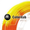 3D printer filament 1.75mm ABS thermal changing orange 716C