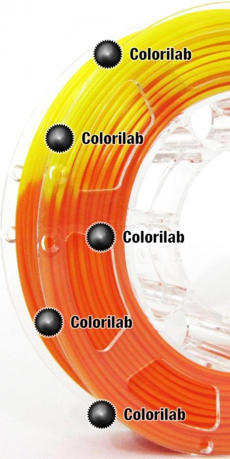 Filament d'imprimante 3D 1.75 mm ABS thermal changeant orange
