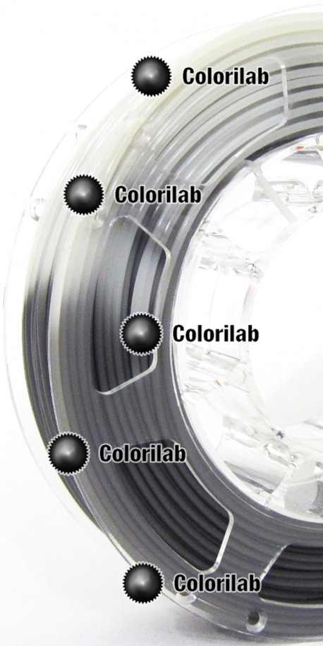 Filament d'imprimante 3D 1.75 mm PLA thermal changeant gris Cool Gray 11 C