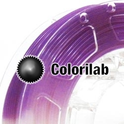 Filament d'imprimante 3D 1.75 mm PLA UV changeant : naturel à violet