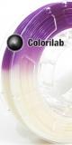 Filament d'imprimante 3D 1.75 mm PLA UV changeant : naturel à violet