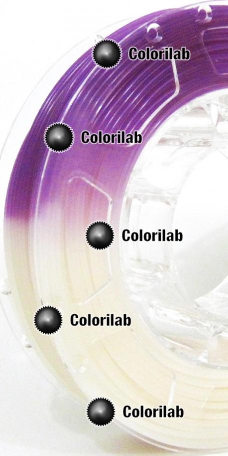 3D printer filament 1.75mm PLA UV changing : natural to violet