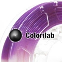3D printer filament 3.00mm PLA UV changing : natural to violet