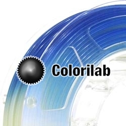 3D printer filament 3.00mm ABS UV changing : natural to blue