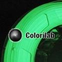 3D printer filament 1.75mm PLA glow in the dark green
