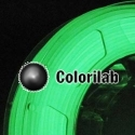 Filament d'imprimante 3D 3.00 mm PLA phosphorescent vert