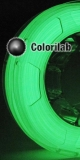 3D printer filament 3.00mm PLA glow in the dark green