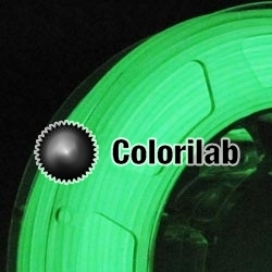 3D printer filament 1.75mm ABS glow in the dark green