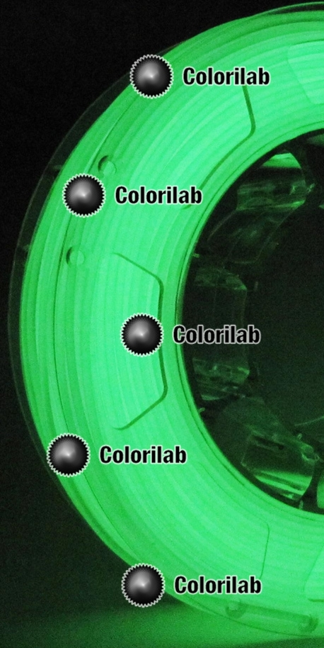 Filament d'imprimante 3D 3.00 mm ABS phosphorescent vert