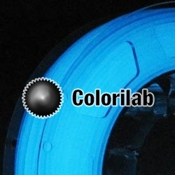 3D printer filament 1.75mm PLA glow in the dark blue
