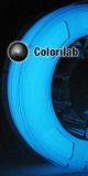 3D printer filament 3.00mm PLA glow in the dark Blue
