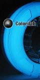 Filament d'imprimante 3D 3.00 mm ABS phosphorescent Blue