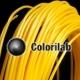 PLA 3D printer filament 1.75 mm yellow 129C