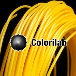 Filament d'imprimante 3D 1.75 mm PLA jaune 129C