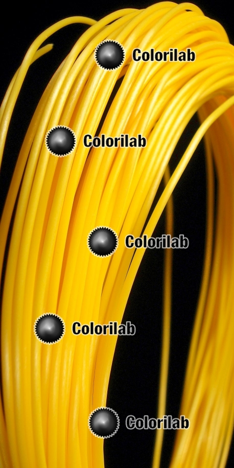 ABS 3D printer filament 1.75 mm yellow 129C