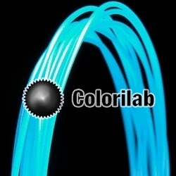 ABS 3D printer filament 3.00mm translucent blue 638U