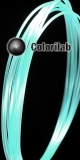PLA 3D printer filament 3.00mm close to glow-little in the dark blue 630 C