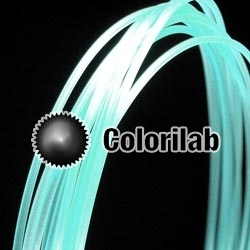ABS 3D printer filament 1.75mm glow-little in the dark blue 630C