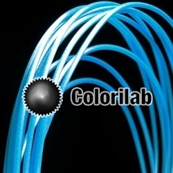 ABS 3D printer filament 3.00mm fluo blue 2195C