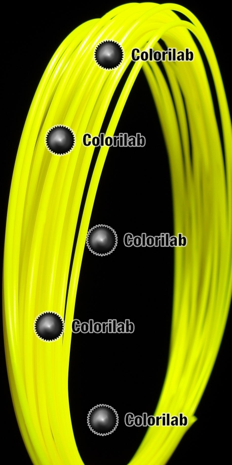 ABS 3D printer filament 1.75mm fluo yellow 389C