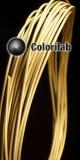PLA 3D printer filament 1.75mm close to brass powder 10360 C