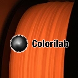 3D printer filament 3.00mm PLA glow in the dark red