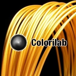 3D printer filament 1.75mm PLA golden glitter gold 10129C