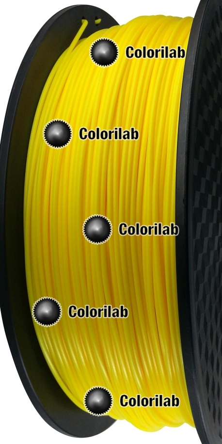Filament d'imprimante 3D 1.75 mm PLA jaune 107C