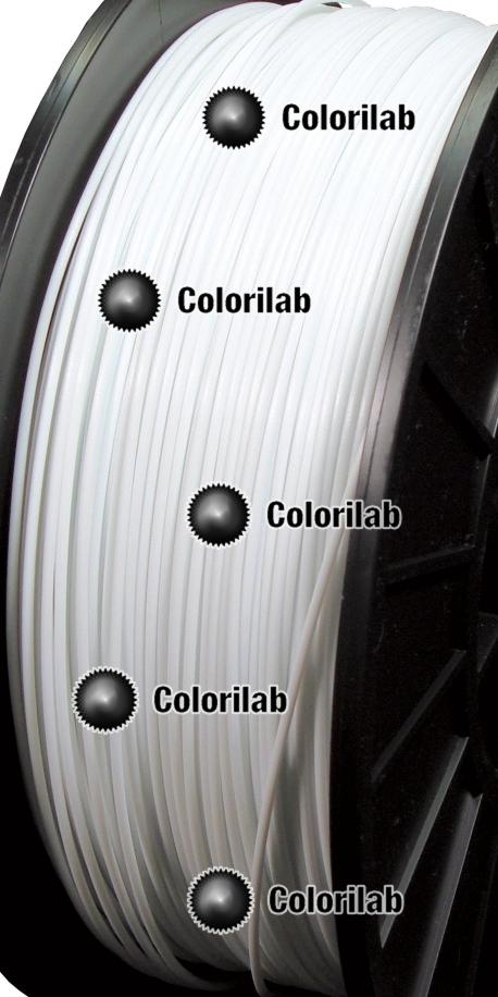 Filament d'imprimante 3D PLA blanc 1.75 mm