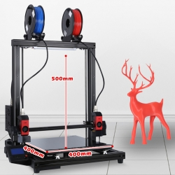 FormBot T-Rex 2+ 3D printer Free Shipping Free Filament dual extruder (IDEX) 400x400x500mm High Temp Large Format Laser Engraver