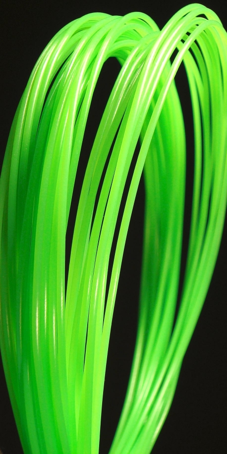 PP 3D printer filament 3.00 mm glow in the dark green 2270C